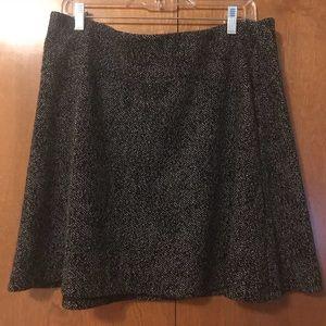 LOFT Tweed Stretch Size L A-Line Skirt